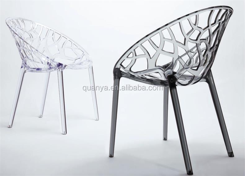 Elegant Ronde En Plastique Arbre Dossier Chaise Pour Salle A Manger