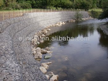 240gr/m2 3x1x1m Gabion Wire Mesh for Stone with 2 Diaphargm