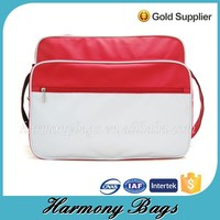 Popular durable red women leather shoulder bag