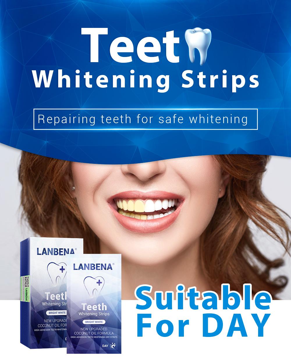 Lanbena Coconut Oil Dry Teeth Whitening Strips For Day - Buy Teeth  Whitening Strips,Dry Teeth Whitening Strips,Coconut Oil Teeth Whitening  Product on