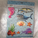 Custom sticker printing lovely sealife 3d wall paper sticker kids decal room sticker