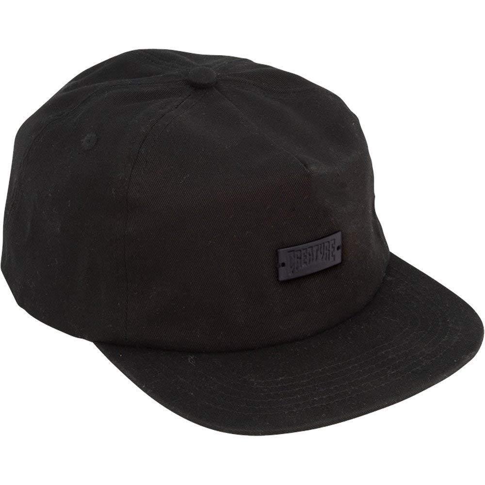 Creature Skateboards Black Metal Black Snapback Hat - Adjustable