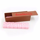 Excite double 6 domino rally pink & white 28 pieces case