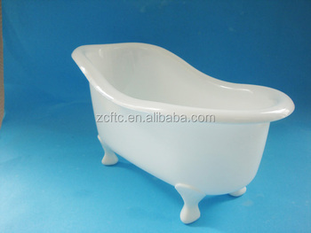 White Mini Toy Bathtub For Packing Bath Products,plastic Clear Bathtub  Shape Container