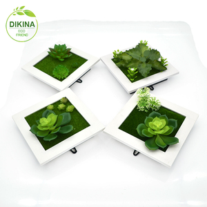 DIY real touch plastic flower with different styles small & big size Succulent display artificial plant islamic wall frame