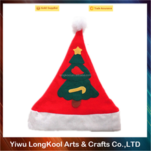 2016 New arrival hot sale luxury cheap christmas hat musical christmas hat