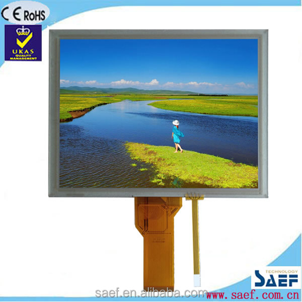 8inch 800*600 RGB interface 50pins touch screen for tablet pc with resistance touch