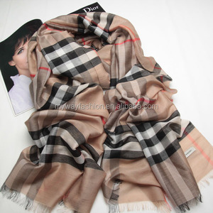 trendy mix color checked tartan blanket scarves