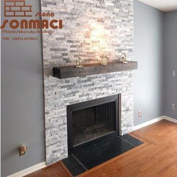 stacked grey marble stone fireplace mantel surround stacked veneer rh alibaba com