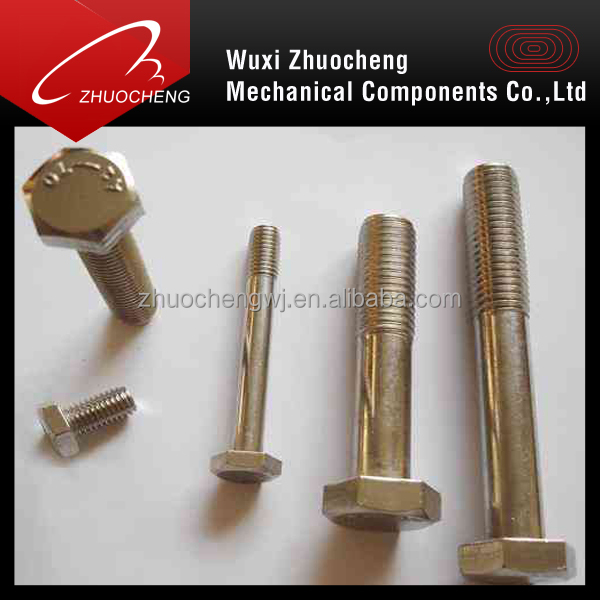 a2 70 stainless steel bolt with nut and washer