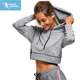 design your own ladies fitness gym crop top hoodie