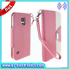 2014 newest book style wallet flip cover case for samsung galaxy s5 I9600 credit card holder cell phone cases