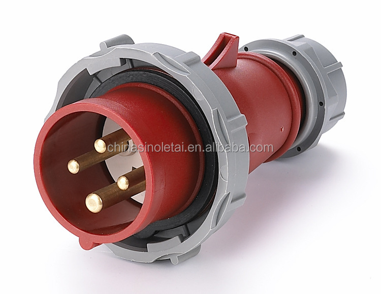 IP44 IP67 16A 32A 63A 3p industrial male socket