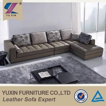 China Hi Tech Furniture Modular Thick Corner Used Leather Sofa