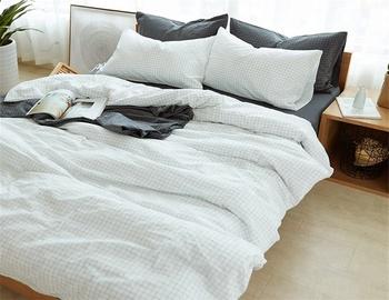 Anese Style Tartan Design Luxury Home Bed Sheets Sheet Bedding Set