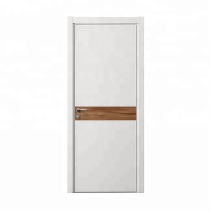 Customized size and material exterior swing wooden apartment door usa plywood door