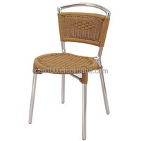 comfortable aluminum plastic rattan restaurant garden side chair