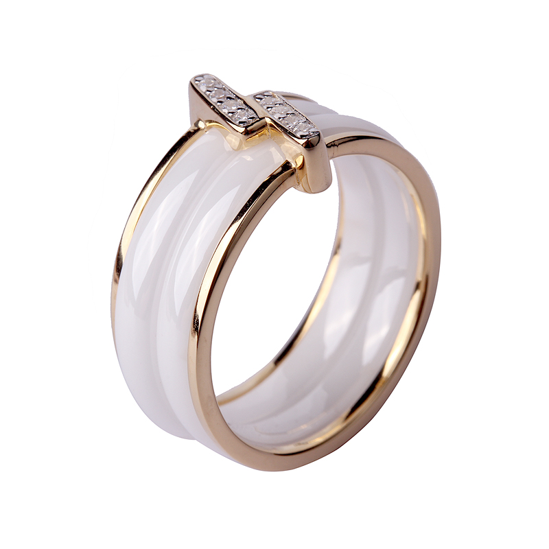 High End New Design Gold Finger Ring Sterling Silver Ceramic Rings ...