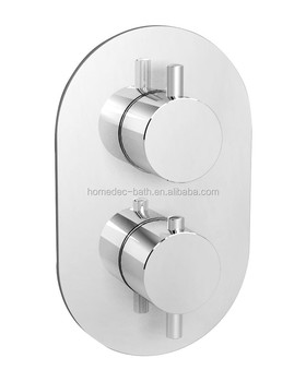 2way Wall Mounted Chrome Exposed Thermostatic Shower Valve