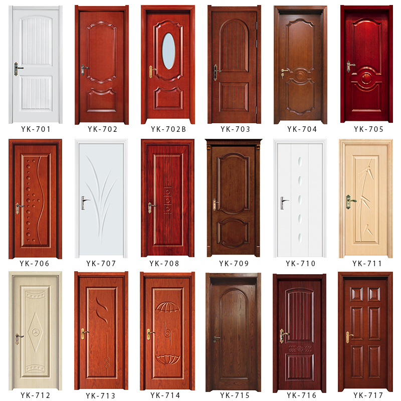 Yk824 interior home entry wood door front modern teak wood for Simple main door design