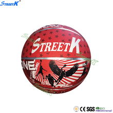 2016 streetk custom printed rubber basketball glossy basketball