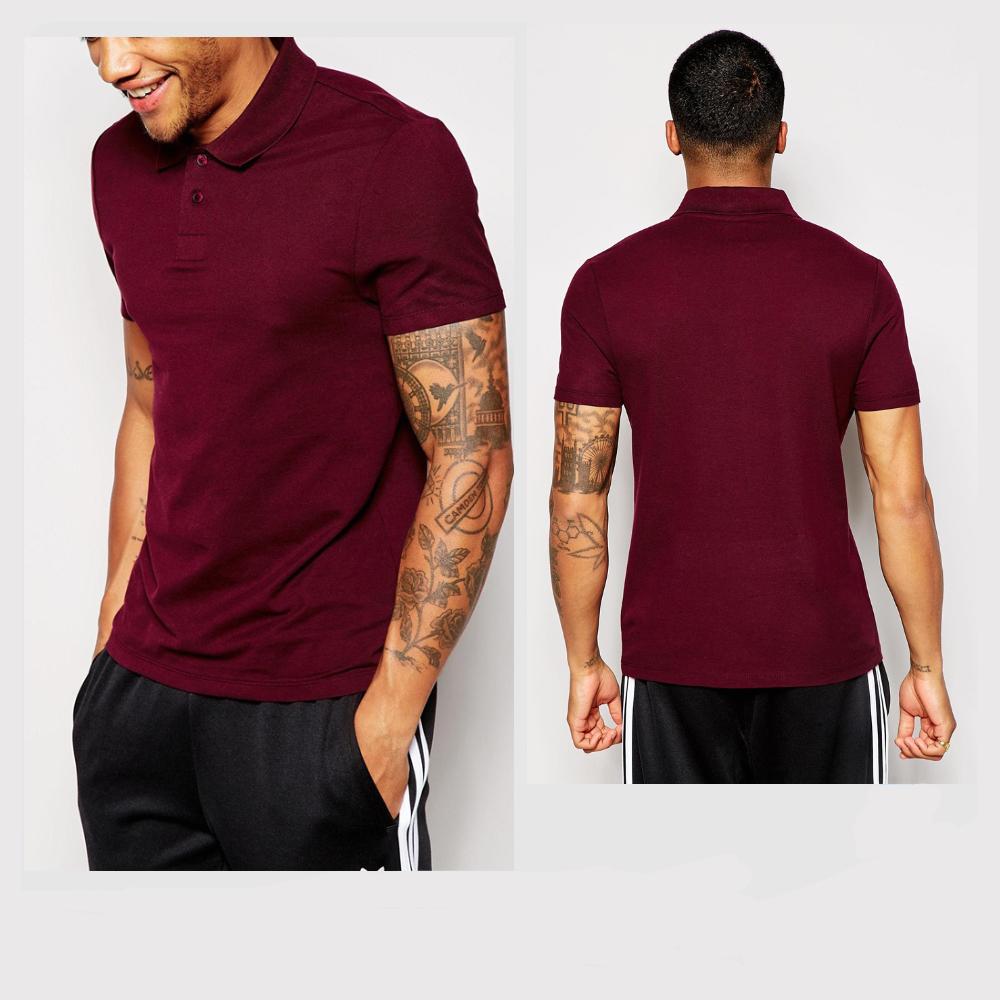4ee542763f31 ... usa new design polo shirts wine red short sleeves slim custom mens polo  shirts caebd c31fd