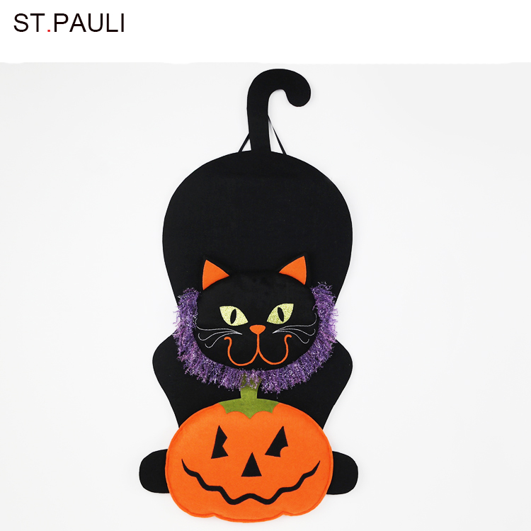 Black cat zucca indoor accessorio halloween party decoration For sale