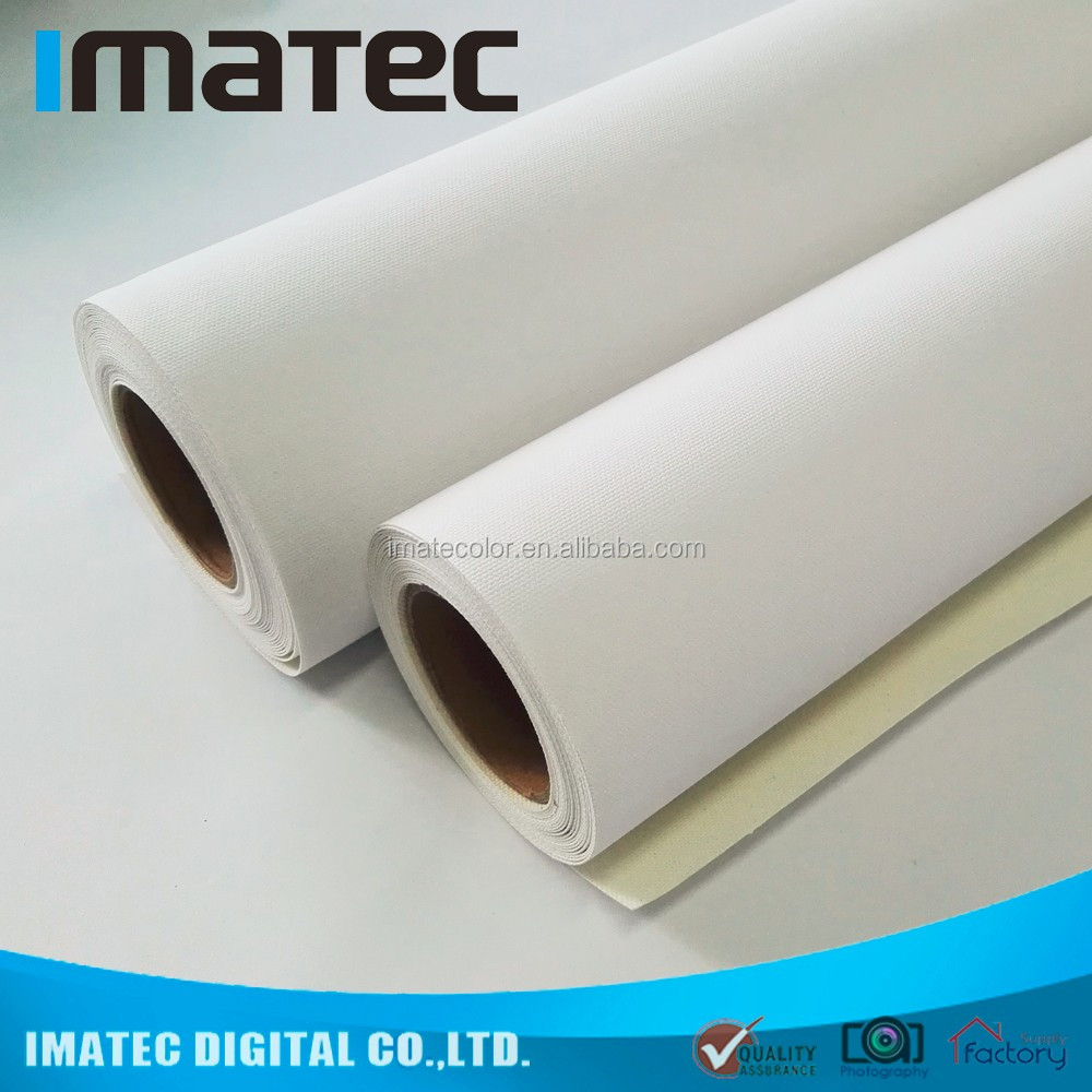 320gsm Waterproof Pigmented Large Format Poly Cotton Blank Art Canvas for Digital Printing