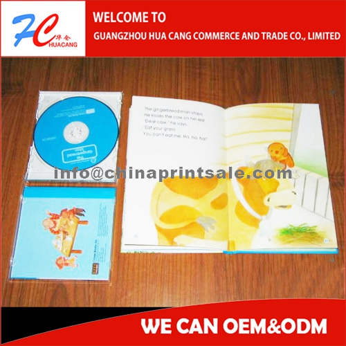 Customized Hotsales Colorful Child Book With Cd/dvd/vcd