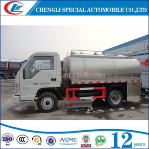 3cbm 3000 liters 5000 liters stainless steel truck milk tank almond milk tanker condensed milk transport truck