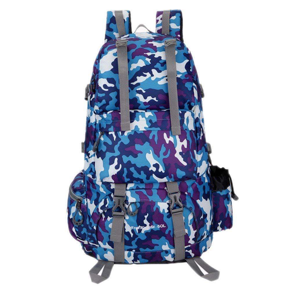 fe9ef2da7878 Get Quotations · KEXKL 50L Sports Bag Nylon Waterproof Hiking Backpacks  Outdoor Climbing Bag Camping Travel Backpack Man s Backpack
