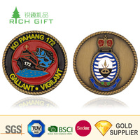 High quality unique design die stamping hard enamel birds logo kuwait souvenir coins for wedding gifts