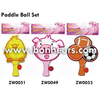 New Novelty Toy Wooden Duck Racket Ball Set Paddle