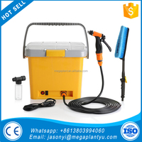 Factory supply 12v high pressure portable washing cleaner car washer with water tank