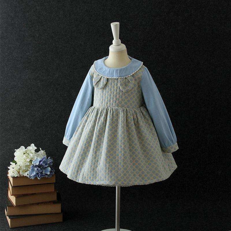2018 Baby Girls Long Sleeve One-piece Dress Children