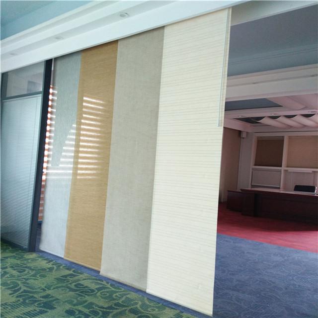 sliding panel track blinds