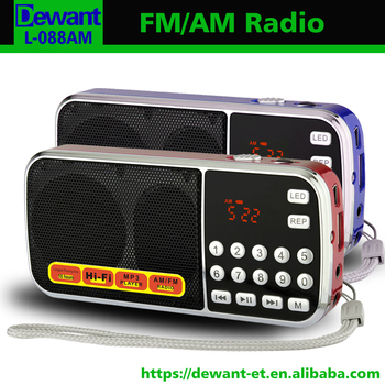Factory selling L-088AM mini AM FM portable radio with USB SD