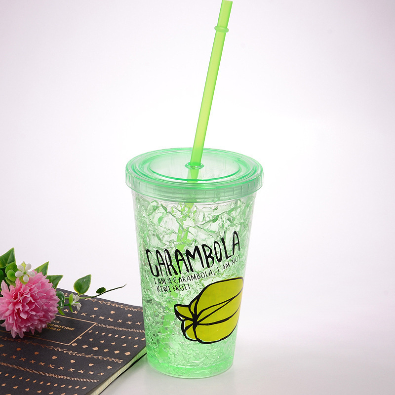 Wholesale Juice Drinking Double Wall Plastic Ice Water Mugs Travel Tumbler  Cup With Straw - Buy Plastic Cup With Straw,Wholesale Travel Cup,Double