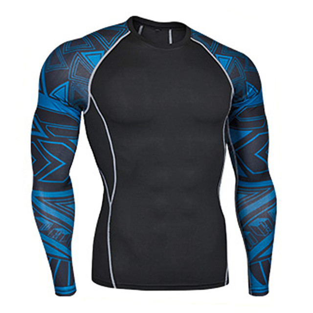 Breathable Men Spandex Activewear Shirt Wholesale Sublimation Compression Shirts