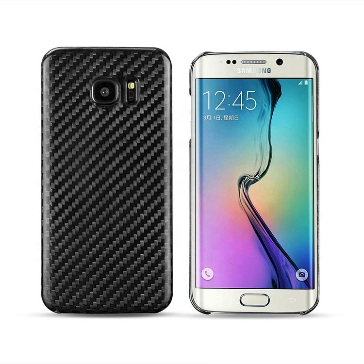 e21a76ed7 New Cellphone Case Hard Paint Glossy Carbon Fiber Case For Samsung S7 Edge