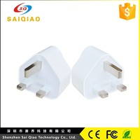 large stock is available Mobile Phone dual Port triangle plug Charger for UK AU EU US