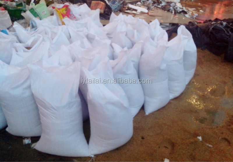 white plastic woven Breathable wet resistance sand bags 25kg