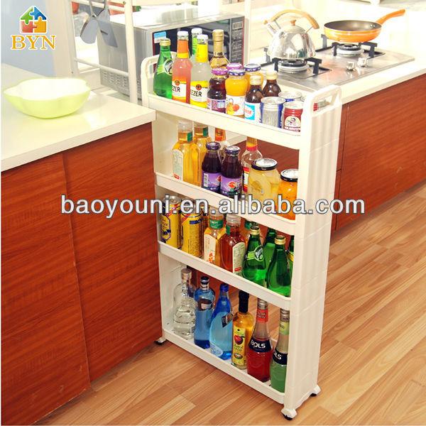 baoyouni 4 mobil niveaux rack cuisine salle de bain pp tag re de rangement roulettes dq 1309. Black Bedroom Furniture Sets. Home Design Ideas