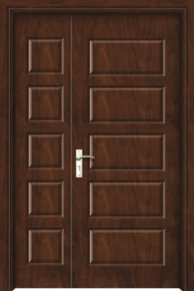 Paneled doors designs beautiful 4 panel solid wood for Big main door designs