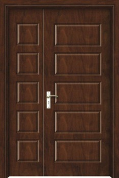 Wooden double panel doors design buy main door designs for Office main door design