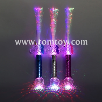 Tomtoy Multicolor LED Fiber Optic Unicorn Wand