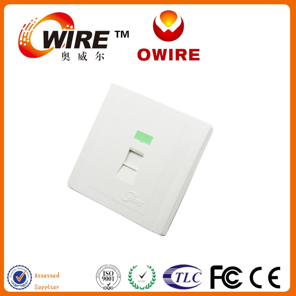 Network Cable Wall Face Plate Network RJ45 Face Plate Toolless Single ModuleType 1port Face Plate