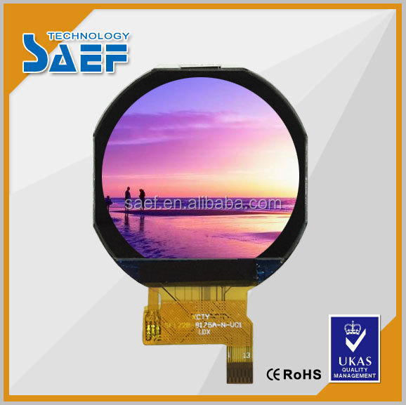 Ips 1.22 Inch Round Tft Screen With Capacitive Touch Panel For ...