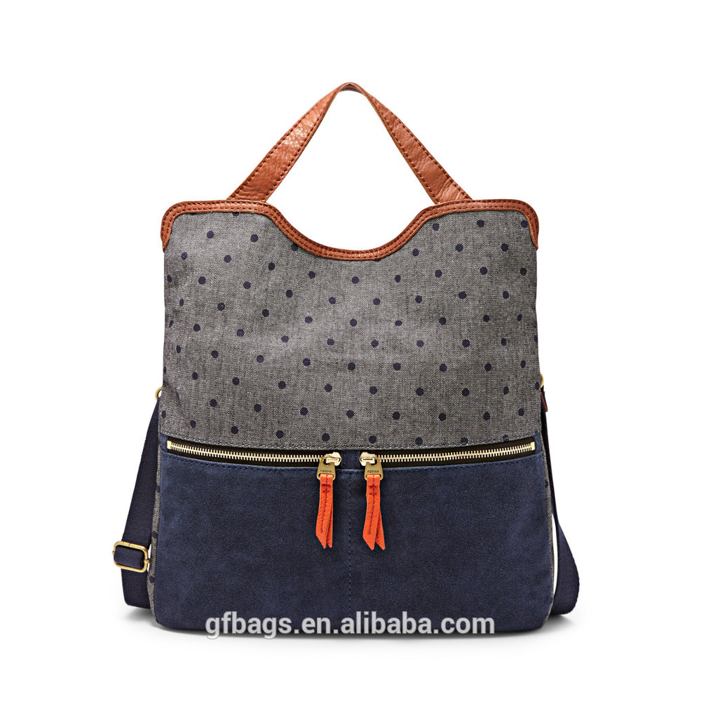 China wholesale Genuine Leather bule shoulder bag for ladies