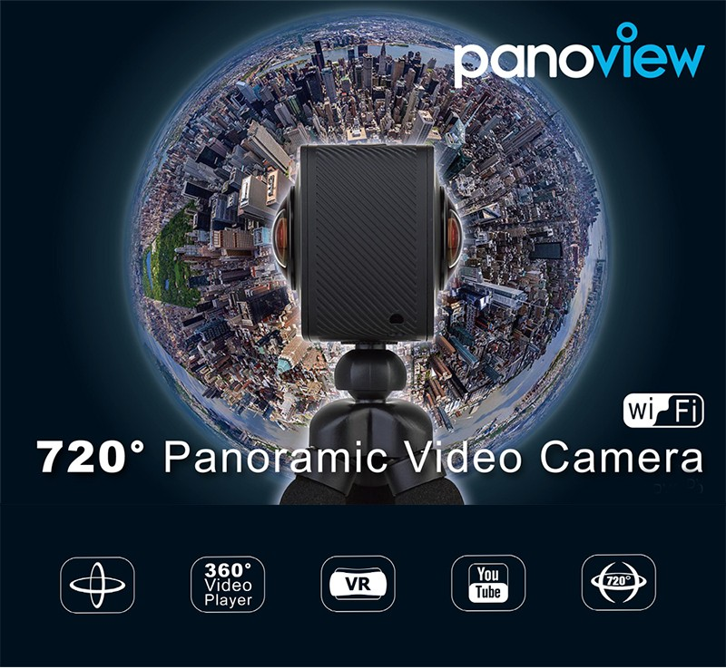 dual lens elephone camera panoview 360 Sport Action Camera VR 360 Degree camera 4K Inta 360 Nano Compatible Youtube Facebook